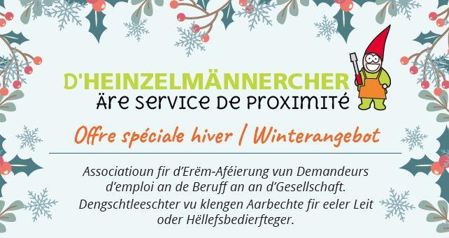 D'Heinzelmännercher – Äre Service de proximité