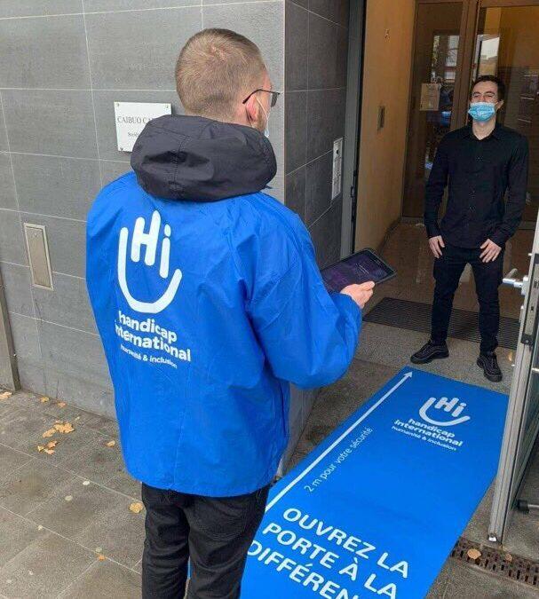 Handicap international – Activité porte-à-porte