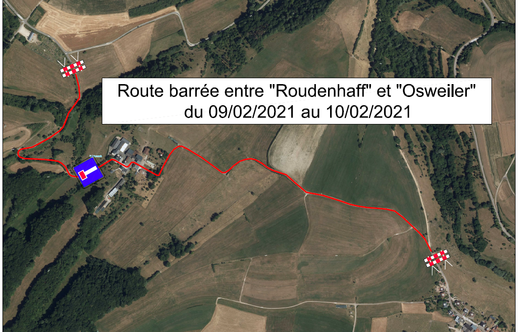 Avis – Route barrée au Rodenhof
