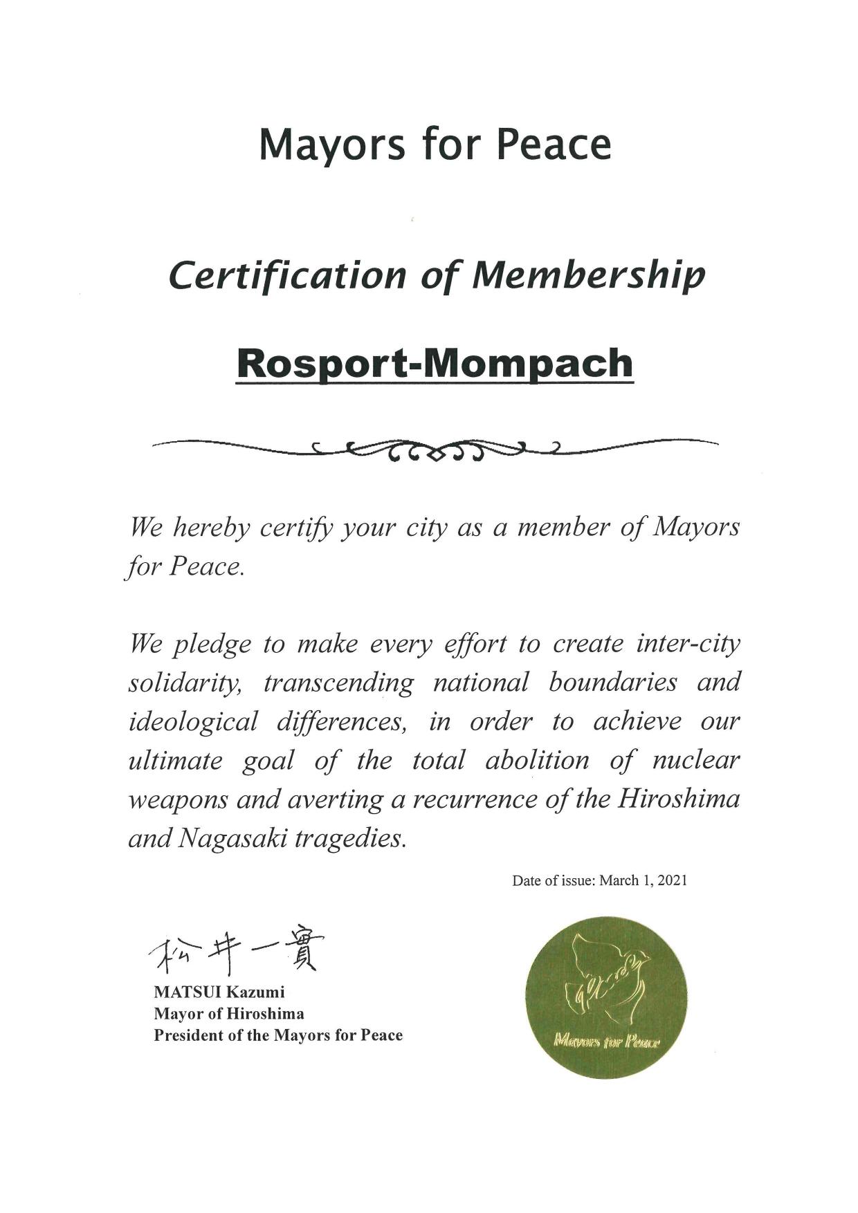 Membership - Mayors for peace