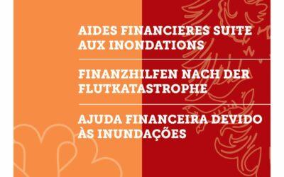 Finanzhilfen nach der Flutkatastrophe / Aides financières suite aux inondations
